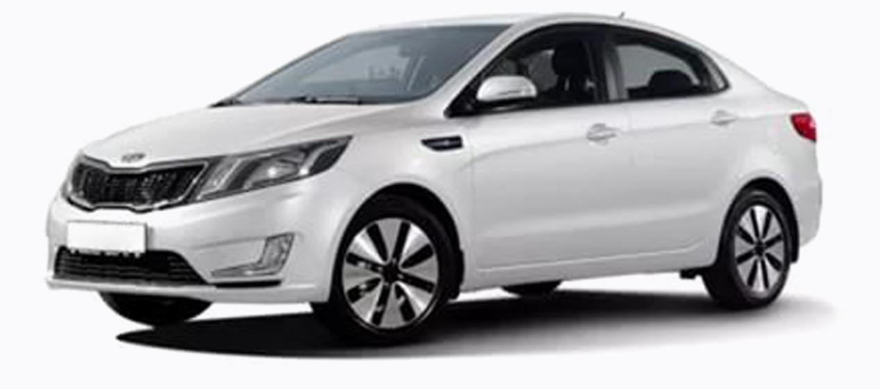 Kia Rio Sedan White 3